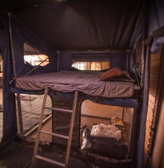 Austrack Tent Interior-Bed 2