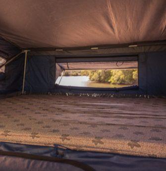 Austrack Tent interior-bed