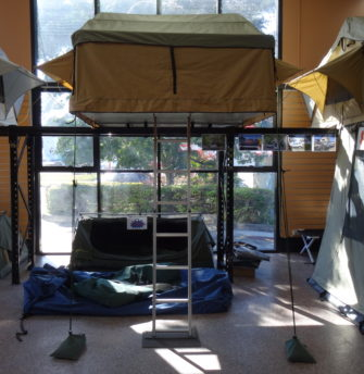 Roof Top Tent Superior 1.8 showroom