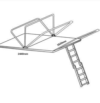 roof top tent frame dimensions 1.8m