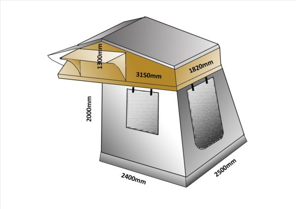 roof top tent dimensions 1.8m