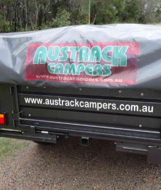 Camper Trailer Offroad Powdercoated rear view