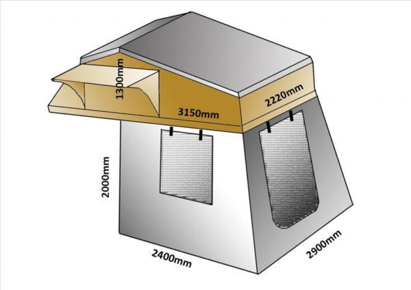 roof top tent dimensions xl